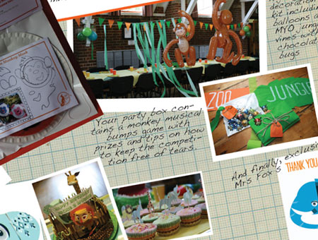 Mrs Fox's Party Boxes -  A Party in the Jungle