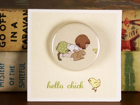 Belle & Boo Hello Chick Badge