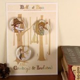 Belle & Boo Cowboys & Indian Badge Set