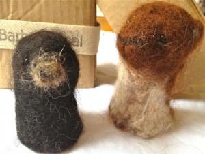 Barbara Keal felted animals, stoat and mole