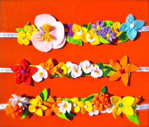 flower headbands - summer brights