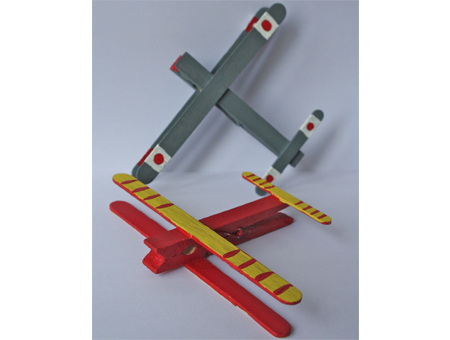 Peg & Lolly Stick Aeroplane Kit